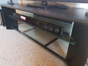 black TV table in great condition