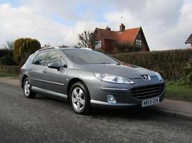 2010 Peugeot 407 2.0 HDi 140 BHP SPORT 5DR TURBO DIESEL ESTATE ** 63,000 MILE...