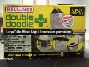 Double Doodie Plus Large Toilet Waste Bags (Reliance Products) West Island Greater Montréal image 1