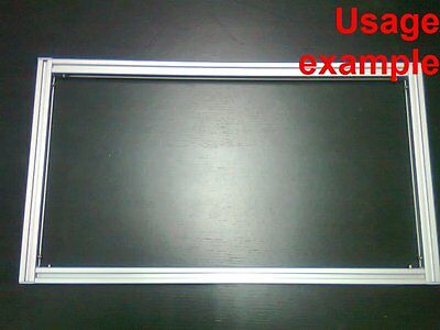 Aluminum T-slot Extruded Profile 20x20-6mm Rectangular Frame Size 540x300mm