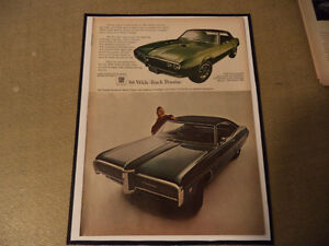 OLD FIREBIRD CLASSIC CAR FRAMED AD Windsor Region Ontario image 6