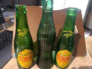 Vintage soda bottles. VESS DRY & 2x JOHN COLLINS . A DANDY LITTL