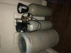 Grow equipment for sale. fans,filters,light,co2 tanks