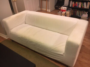 Ikea Klippan loveseat with removable cover