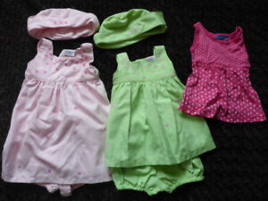 Three Outfits for little girls (Size 24 months)