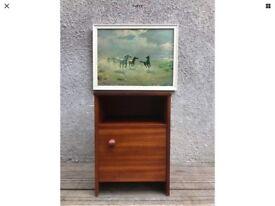 Retro Vintage 1960's Avalon Teak Bedside Cabinet Cupboard
