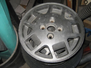 "4- 14"" alum rims 4x100  - great for winter"