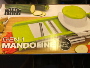 5-in-1 kitchen mandolin (slicer/grater)