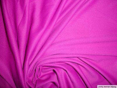 1 Lfm seidiger Jersey 3,55€/m² Trikotstoff Micromodal pink AM85