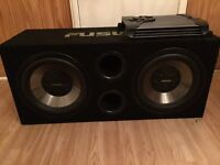 Fusion twin sub woofer & amp.