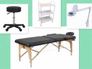 Spécial Cils combo 4 items 229$: Table de massage+Lampe loupe+ C