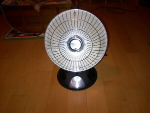 Parabolic electric space heater