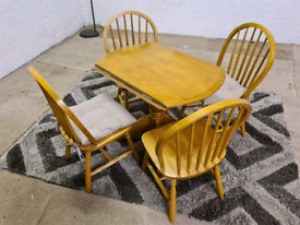 Oak - Extendable 4 Seater Dining Table & 4 Chairs - Only £125..!!