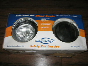 NEW WISE EYE HALOGEN BACKUP LITES AND MIRRORS