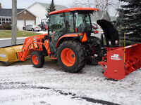Snow removal driver for tractor and blower - Central Riverview