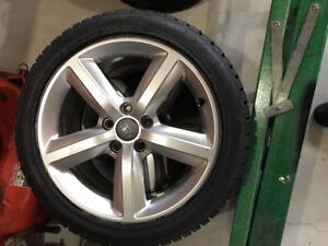 "Audi 17""Alloys with brand new Gislaved Nordfrost 5 winter tires."