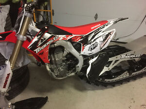 DEMO Snow Bike Timbersled Honda 450R
