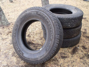 4 - LT 215/85R16 M+S Used SUV or Light Truck Tires