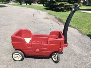 Radio flyer wagon and scooter