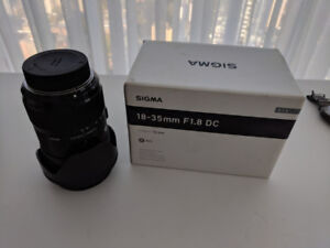 Sigma 18-35mm F1.8 DC HSM for Nikon (other lenses available)