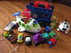 Baby Toy Lot - Cars, Trucks,  Wooden Train