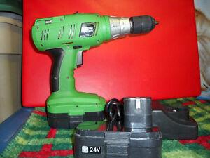 24 Volt Rechargable 1/2 Inch Hammer Drill $50