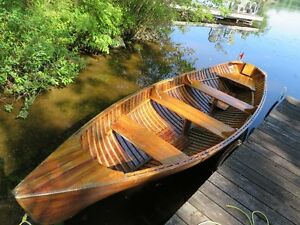 Cedar Strip Rowing Skiff
