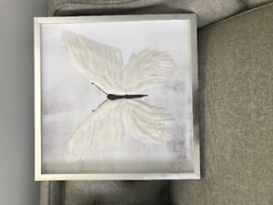 Butterfly foil embossed print