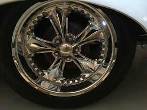 Mopar, Plymouth, Dodge, Ford,  18'' Chrome Foose rims and tires