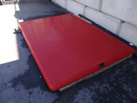 Red truck bed cover