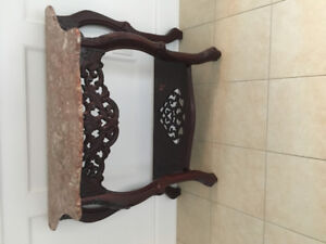 Chinese console table with mirror