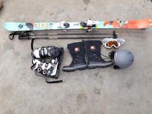 Various ski gear