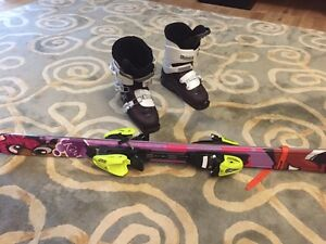 For sale 130 girl Fisher skis and Salomon 24.5 boots