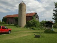 Barn, sheds and house to be demolised
