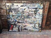 Huge Stunning Abstract Oil Painting - Glasgow School of Art - Can Deliver