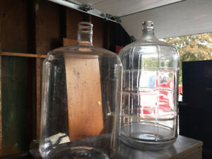 2 glass and 2 plastic carboys