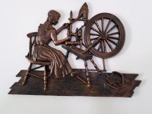Girl spinning wheel