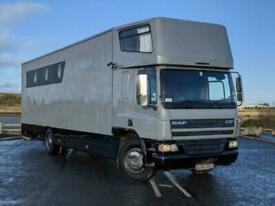 2006 DAF CF 18T HORSE BOX HORSE TRUCK ** 7 STALLS, 12M MOT AND SERVICE ** 9 Hgv