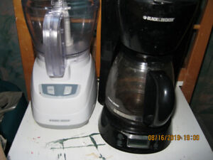 Kitchen small appliances and various items