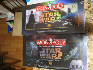 STAR WARS MONOPOLY - LIMITED & CLASSIC EDITIONS -SEALED BOXES