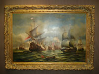 Naval battle of tall ships