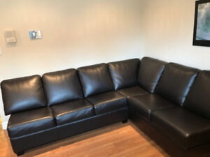 Custom Rawhide Leather Sectional Couch