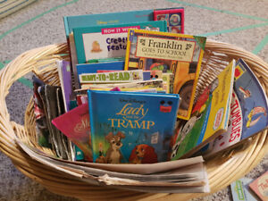Large basket of kid's books, Franklin, Thomas, Winnie the Pooh++