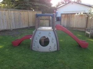Little Tikes climbing wall and slides