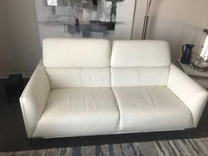 3 seat genuine leather sofa - $750