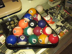 Standard Size Set Of Pool Balls With Triangle