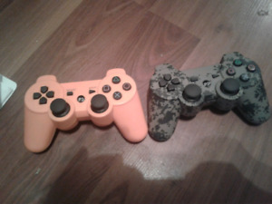 Ps3 games and 2 custom controllers.