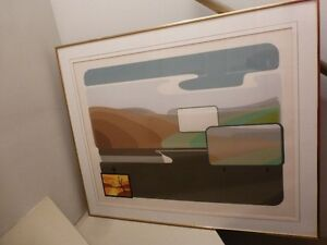 Grande lithographie de J. Hudon - «Vert à vendre»