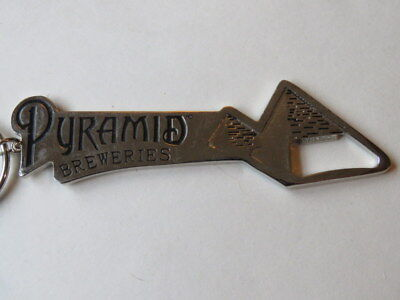 (Nice Key Chain Metal Bottle Opener ~ PYRAMID Breweries ~ OREGON & WASHINGTON)