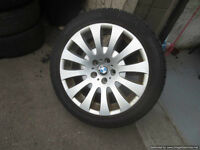 Four Used 18 inch BMW Wheels and Pirelli Winter tires 5x120